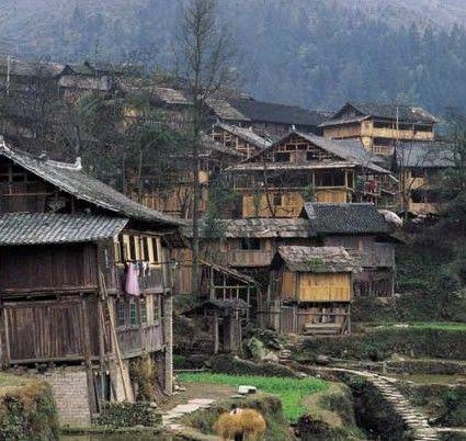 侗族民居手绘图