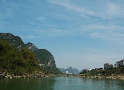漂亮的宜州下枧河 图片来源:瞬间即永恒 新浪博客