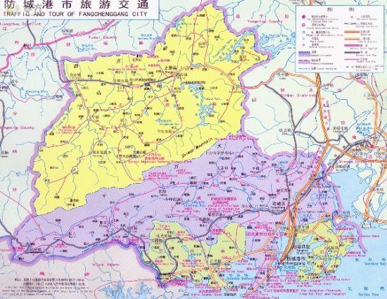 防城港旅游交通示意图 图片来源:远方网