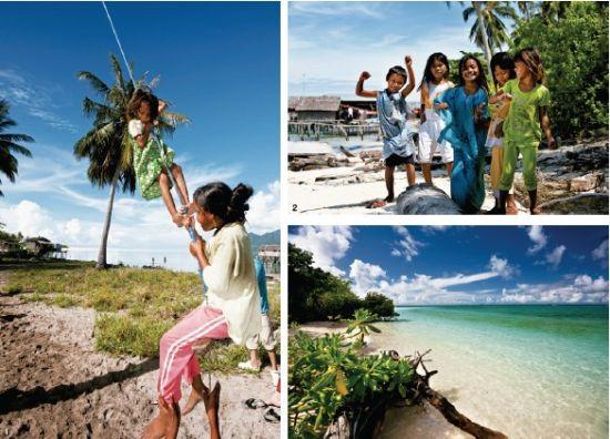 1.岛上的巴夭人没有国籍, 没有医院,没有学校,可孩 子们依然很快乐