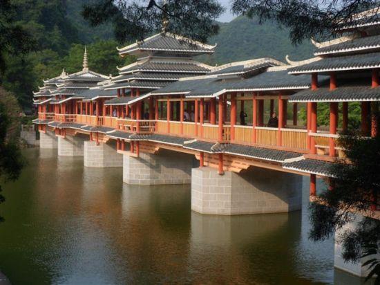 龙潭公园风雨桥(图/初春的早晨 新浪博客)