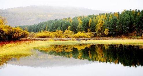 漠河北极村秋景