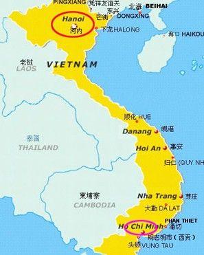 越南地图广西地图