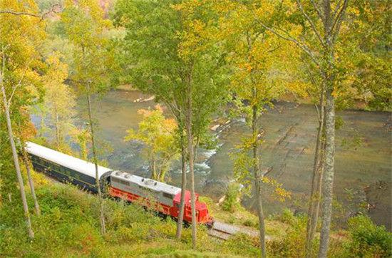 美国乔治亚州蓝岭,蓝岭风景区铁路