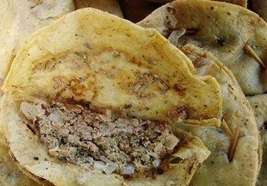 墨西哥的牛脑肉卷饼