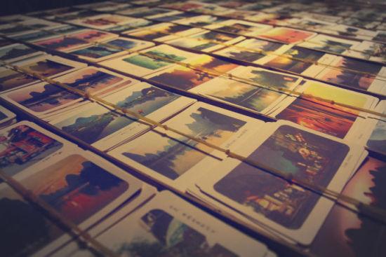 形形色色的山水明信片(图/Rachel 新浪博客)