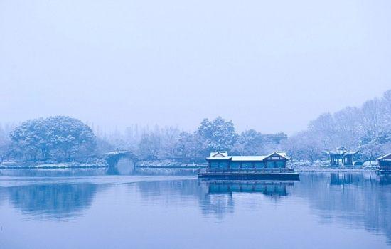 苏堤雪景 图摄/一柄锈剑