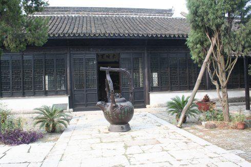 访宜兴东坡书院别致的江南小小学园林画端午图片