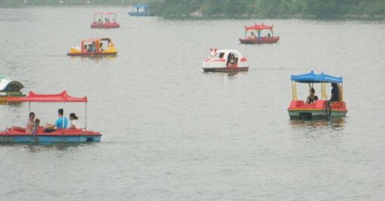 白河划船 图片来自:@涛韬狮龙