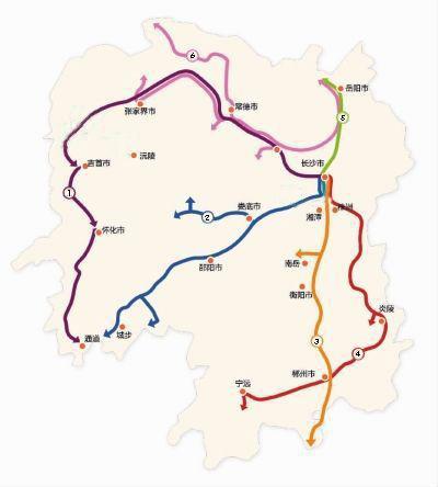 湖南自驾路线地图