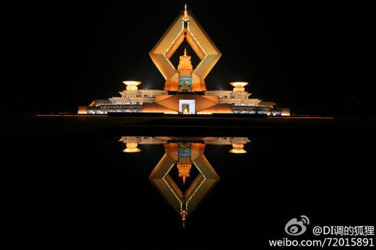 法门寺建筑极为壮观(图片来源:@DI调的狐狸)