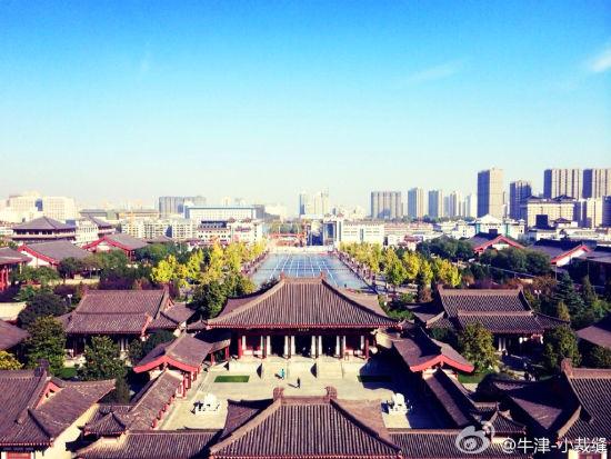 俯瞰大慈恩寺(图via@牛津-小裁缝)