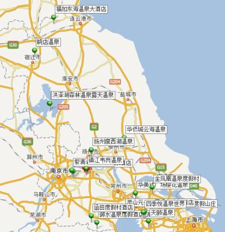 江苏温泉地图