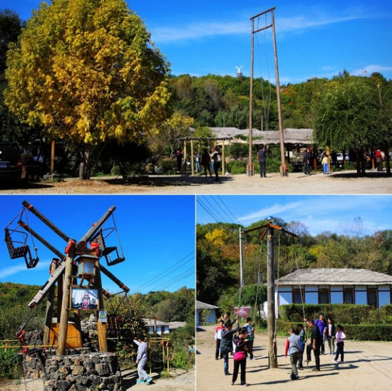 新浪旅游配图:镜泊峡谷朝鲜民俗村的娱乐项目 图片来源:赵天华