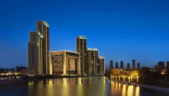天津瑞吉金融街酒店璀璨夜景