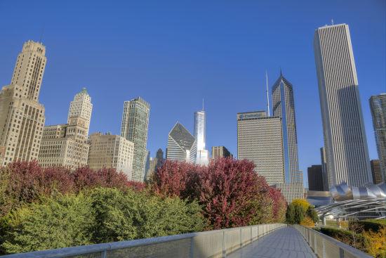 芝加哥千禧公园天际线 来源:芝加哥旅游局