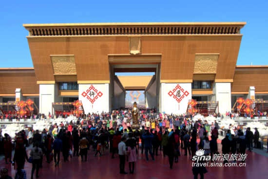 春节黄金周 法门寺为游客创造了井然有序的旅游环境