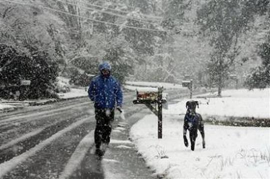 罕见3月暴风雪袭美国多州 数百航班被迫取消