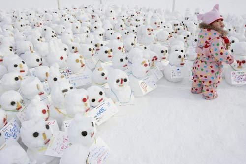 组图:各式雪雕亮相日本札幌冰雪节