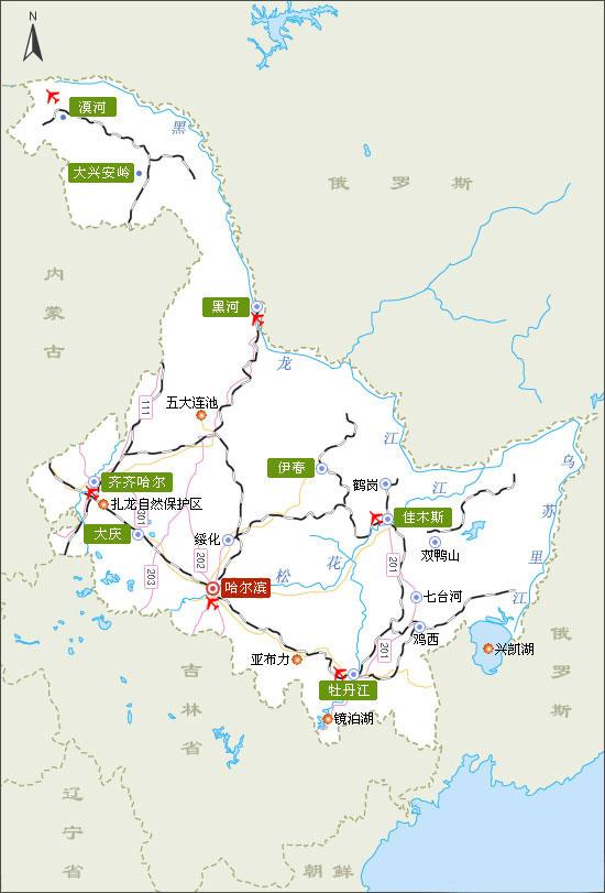 黑龙江地图-黑龙江地图