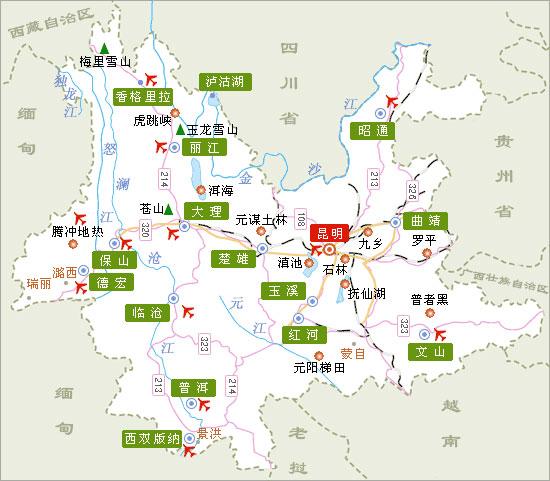云南手绘美食地图