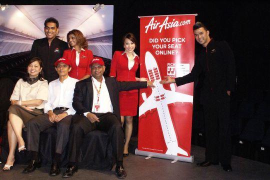 """马来西亚亚洲航空推出最新""""任选座位""""服务"""