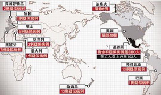 猪流感已逼近中国 上海登机检查墨西哥航班(图)