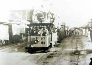 1906年,第一条有轨电车在天津通车