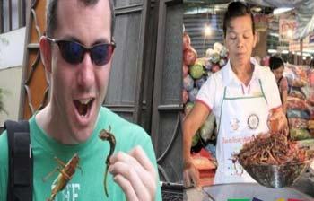 泰国超奇怪的街头小吃(组图)
