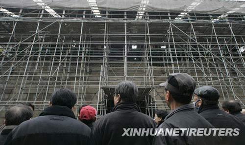 组图:韩国崇礼门遭焚毁一年后再度开放