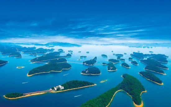 手绘自然岛屿风光图片
