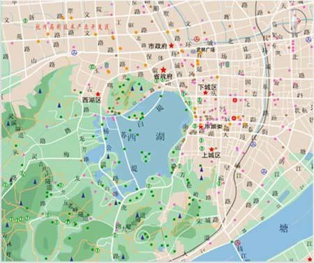 杭州西湖旅游地图