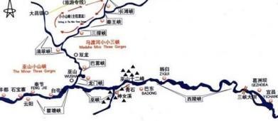 三峡游览图