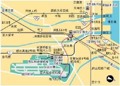 福冈机场周围地图