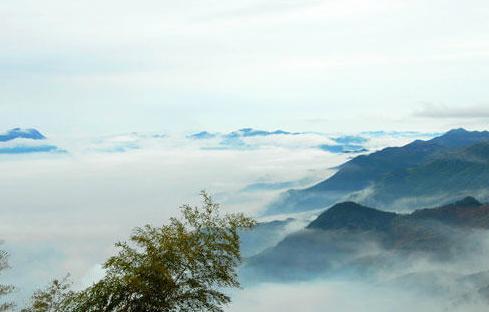 1月29日,浙江台州括苍山风景区云雾缭绕,宛如人间仙境.