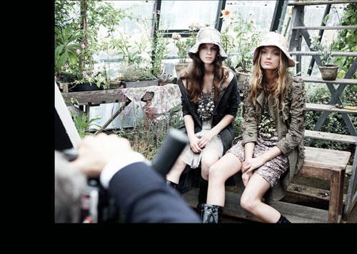 Burberry 2009年春夏季系列广告拍摄花絮