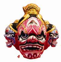 藏族面具是从宗教中派生出的一种工艺品