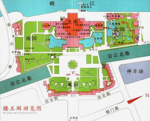 滕王阁旅游地图