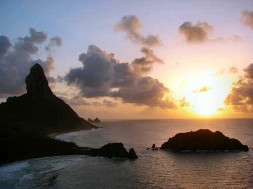 海边美丽的日落