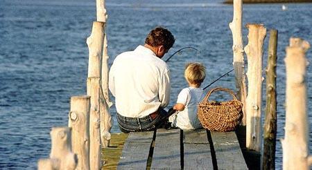 重温自己成长过程中与爸爸一起的快乐时光