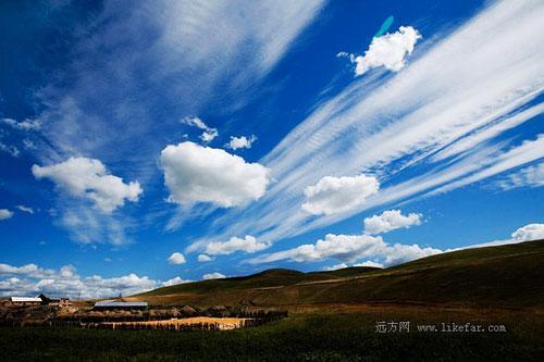 草原上的云 作者:china 老兵