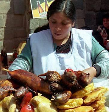 烤天竺鼠 (厄瓜多尔 奥塔瓦洛)