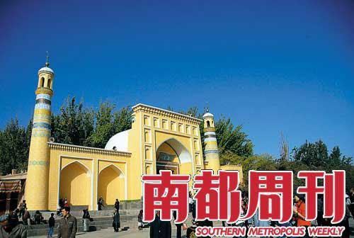 喀什最著名的景点――艾提尕尔大清真寺