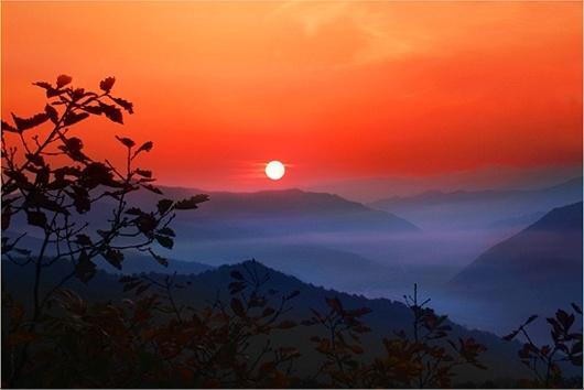 仙景台落日
