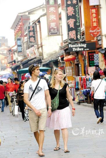 著名的桂林阳朔西街