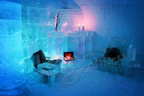 极光之城Alta有着全球最独特的酒店─完全由冰块建造的Alta Igloo Hotel