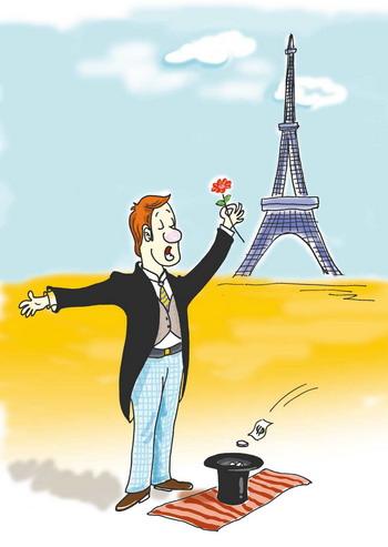 漫画:巴黎乞丐