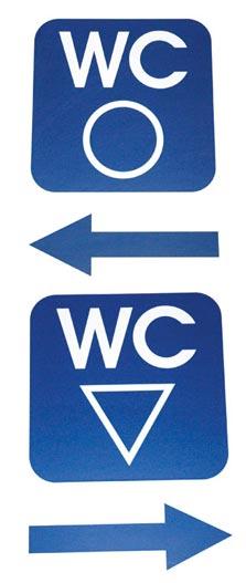 厕所标志仍保持传统