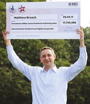 马修・布里奇幸运中大奖。