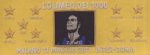 萨内蒂将在自己的第1000次出场的比赛中佩戴的队长袖标